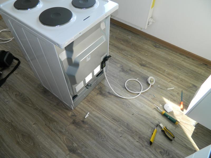 Установка розетки для плиты своими руками